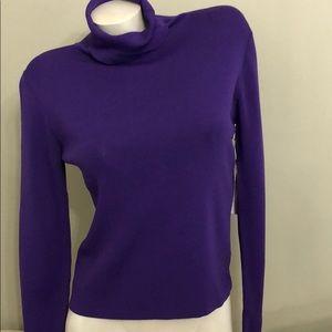 NWT JOSEPH A.  purple turtleneck sweater M